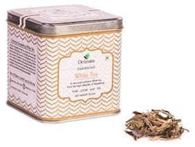 Octavius Silver Needle Darjeeling White Tea|Antioxidant Rich Low Caffeine Whole Leaf Healthy Tea | Handcrafted Tea with Delicate Aroma & Sweetness| 50 g (25 Cups)