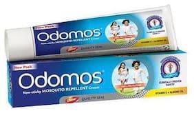 Odomos Cream - Non-Sticky Mosquito Repellent (With Vitamin E & Almond) 50 g