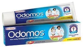 Odomos Cream - Non-Sticky Mosquito Repellent (With Vitamin E & Almond) 50 gm