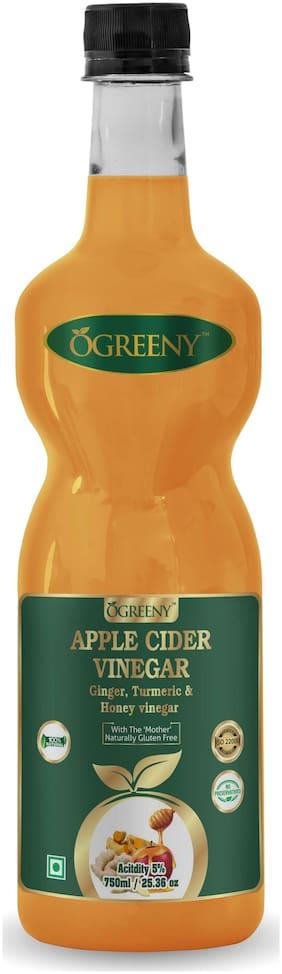 Ogreeny Apple Cider Vinegar With Ginger,Turmuric And Honey -750 ml