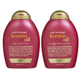 Ogx Anti Breakage Keratin Oil Shampoo 385 ml & Conditioner 385 ml ( Pack of 2 )