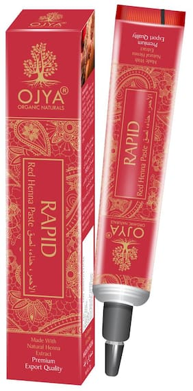 OJYA Natural RAPID RED HENNA TUBE (Pack of 1)(set 12) Temporary Body Tattoo
