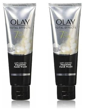 Olay Total Effects 7 in One Anti Ageing Foaming Face Wash 100 g (Pack of 2)