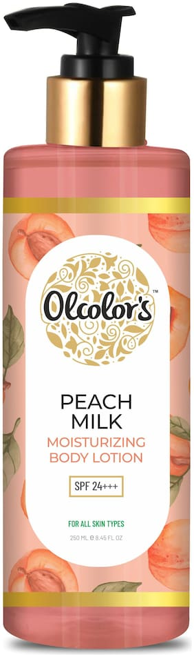 Olcolor s Peach Milk Body Lotion - 250 ml - Hydrating and Moisturising For Dull and Dry Skin - Paraben and Cruelty Free