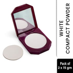 Olivia 100% Oil Free Compact Powder White 15g Shade No.5 - Pack of 2