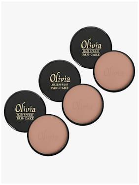 Olivia 100% Waterproof Pan Cake Dark Egyptian Makeup Concealer 25g;Shade No.929 - Pack of 3