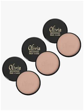Olivia 100% Waterproof Pan Cake Light Egyptian Makeup Concealer 25g;Shade No.919 - Pack of 3
