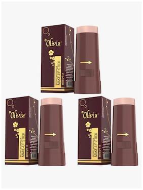 Olivia Instant Waterproof Makeup Stick Concealer Rachelle Rose 15g Shade No.2 (SPF 12) - Pack of 3