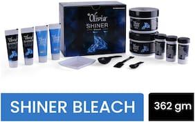 Olivia Skin Lightening Shiner Bleach With Diamond Dust Bleach Cream (254gx2);Activator (36gx1);Booster (12gx3);Post Bleach Serum (12gx3) (Pack of 1)
