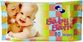 Om Skincare Baby Wipes With Aloe Vera-80 Pcs
