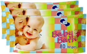 Om Skincare Baby Wipes With Aloe Vera-240 Pcs ( Pack of 3 )
