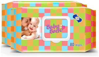 Om Skincare Baby Wipes With Aloe Vera-160 pcs ( Pack of 2 )