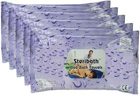 Om Bed Bath Towels Cleans & Moisturize Skin 50 pcs(pack of 5)