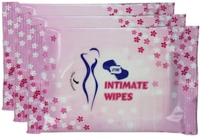 Om Feminine Intimate Wipes 30 Sheets( Pack of 3)