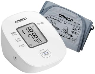 Omron HEM 7121J Fully Automatic Digital Blood Pressure Monitor/ BP machine with Intellisense Technology & Cuff Wrapping Guide for Most Accurate Measurement (White)