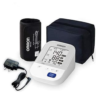 Omron HEM 7156A Digital Blood Pressure Monitor (Adapter Included) with 360° Accuracy Intelli Wrap Cuff for All Arm Sizes (White)