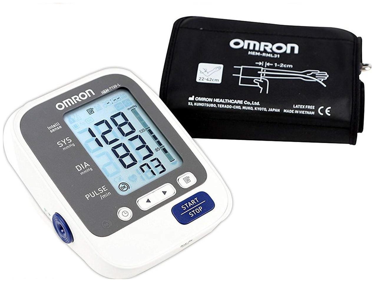 Omron HEM 7130L Fully Automatic Digital Blood Pressure Monitor/ Blood Pressure Machine...
