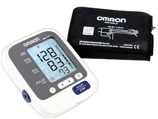 Omron HEM 7130L Fully Automatic Digital Blood Pressure Monitor/ Blood Pressure Machine With Large Cuff, Intellisense Technology & Cuff Wrapping Guide For Most Accurate Measurement