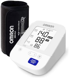 Omron Most Advance Digital Blood Pressure Monitor with 360° Accuracy Intelli Wrap Cuff for All Arm Sizes  Resulting Accurate Measurements (White)