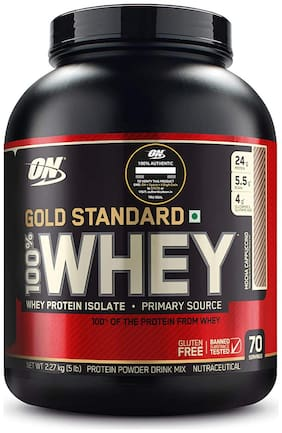 ON (Optimum Nutrition) Gold Standard 100% Whey Protein (2.27 kg, Mocha Cappuccino)