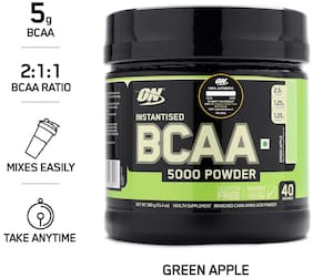 ON (Optimum Nutrition) Instantized BCAA 5000 mg Powder - 380 g (Green Apple)