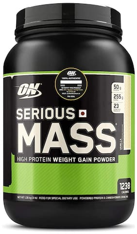 ON (Optimum Nutrition) Serious Mass High Protein and High Calorie Mass Gainer/Weight Gainer Powder - 3 lbs, 1.36 kg(Vanilla) with Vitamins and Minerals