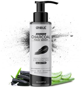 Onbue Activated Charcoal Facewash Deep Cleansing For Men & Women Face Wash 100 ml (Pack Of 1)
