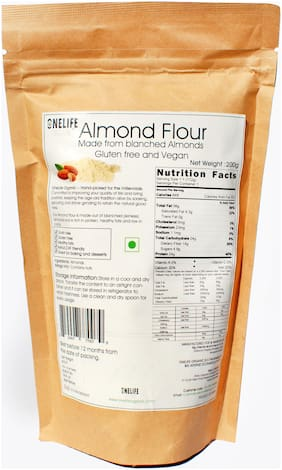 One Life Organic Almond Flour - 200G - 100% Natural Pack of 1