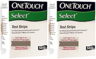 Onetouch Select 100 Test Strips, Blood Glucose
