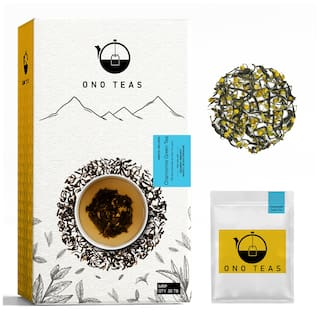Ono Teas Chamomile Green Tea (30 Teabags)with Chamomile Flowers and Flower Petals, Green Tea Leaves   May help with Sleeping Disorders, Enhancing Immunity, Stomach Cramps.