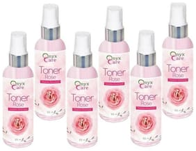 Onyx Care Rose Toner (Vitamin Enriched) (Pack Of 6 pc 100 ml g Each)