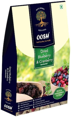 Oosh Premium Whole Dried Cranberry Blueberry Mix 400 Grams ( Pack Of 1 )