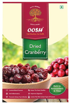 Oosh Premium Whole Dried Cranberries 400 Grams ( Pack Of 1 )