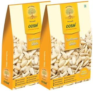 Oosh Premium Indian Sunflower Seeds 800G ( Pack Of 2 - 400G Each)