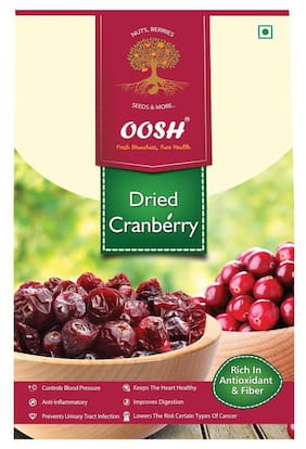 Oosh Premium Whole Dried Cranberry 500G ( Pack Of 1 )