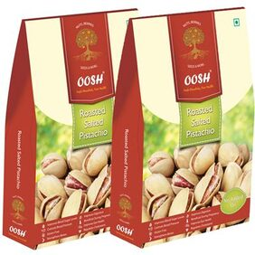 OOSH Roasted Salted Pista Combo 250 gms  (Pack of 2)