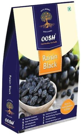 Oosh Seedless Black Raisin Afgani 500G ( Pack Of 1 ) | Dry Fruits