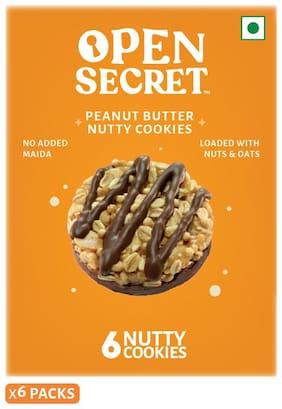Open Secret Peanut Butter Nutty Cookies - 6 Packs (36 Cookies )
