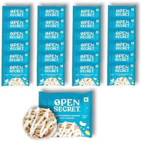 Open Secret Cookie in A Box Healthy Snacking at Home 25 Cookies (White Choco Cashew) 12.5 g  ( Pack of 25 )