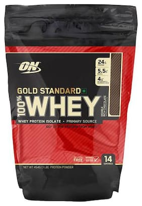 Optimum Nutrition Whey Protein Powder - 100%  Double Rich Chocolate  Gold Standard 1 lb