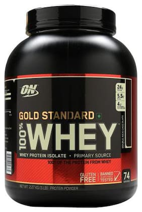 Optimum Nutrition Whey Protein Powder - 100% Double Rich Chocolate Gold Standard 5 lb