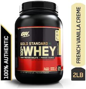 Optimum Nutrition (On) Gold Standard 100% Whey Protein Powder - 0.90 kg (2 lb) (French Vanilla Creme)