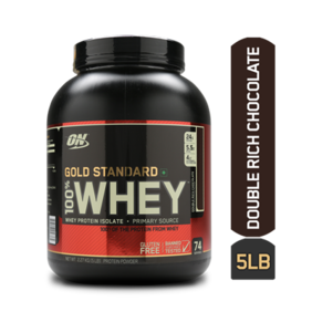 Optimum Nutrition (ON) 100% Whey Gold Standard - 5 lbs (Double Rich Chocolate)