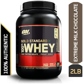 Optimum Nutrition (On) Gold Standard 100% Whey Protein Powder - 0.90 kg (2 lb) (Extreme Milk Chocolate)