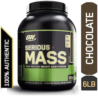 Optimum Nutrition (ON) Serious Mass Weight Gainer Powder -2.72 kg (6 Lb) (Chocolate)