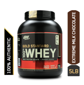 Optimum Nutrition (On) Gold Standard 100% Whey Protein Powder - 2.27 kg (5 lb) (Extreme Milk Chocolate)