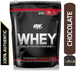 Optimum Nutrition (ON) 100% Whey Protein Powder - 0.83 kg (1.85 lb) (Chocolate)