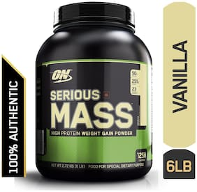 Optimum Nutrition (ON) Serious Mass Weight Gainer Powder -2.72 kg (6 Lb) (Vanilla)