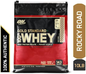 Optimum Nutrition (On) Gold Standard 100% Whey Protein Powder - 4.54 kg (10 lb) (Rocky Road)