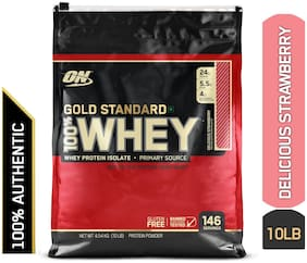 Optimum Nutrition (On) Gold Standard 100% Whey Protein Powder - 4.54 kg (10 lb) (Delicious Strawberry)